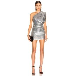Iro Sequin Exciter Dress in Silver